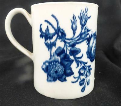 C1770 Worcester Soft Paste Porcelain Natural Sprays Group Mug