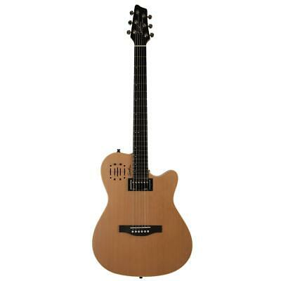 Godin A6 Ultra 6-String Electro-Acoustic Guitar with Bag, Natural Semi Gloss