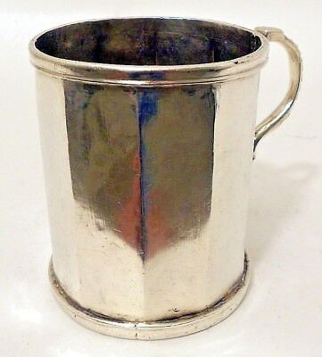 A large impressive Spanish Colonial silver mug, unmarked, 18th Century.