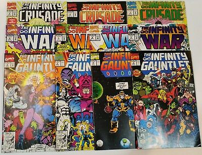 COLLECTION LOT of 11 INFINITY GAUNTLET / WAR / CRUSADE 1 2 3 4 5 6 THANOS