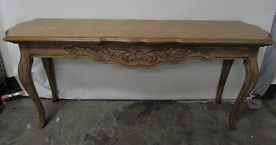 60 Drexel Heritage Cabernet French Country Sofa Console