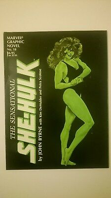 Sensational She-Hulk # 18  Graphic Novel C-48  John Byrne  Vf/nm  1St Print 1985
