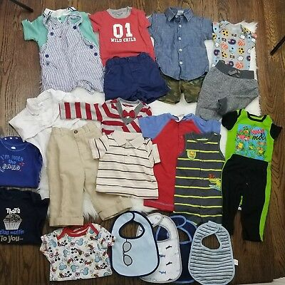 Baby Boy Clothes 6-9 Months Lot 23pc Spring Summer  Bundle Tommy Hilfiger Carter
