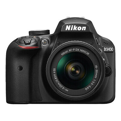 Nikon D3400 24.2 MP Digital SLR Camera with 18-55mm AF-P DX f/3.5-5.6G Lens