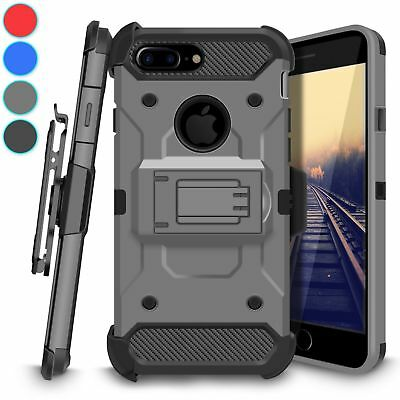 For iPhone 7 Plus Heavy Duty Rugged Armor Holster Belt Clip Kickstand Case Cover