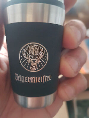 JAGERMEIFTER stainless steel Shot Glasses w/ Logo - 3.5""