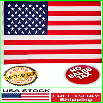 Usa Stars And Stripes 3x5 Printed Polyester American Flags Nylon 2brass Grommets