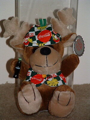 Coca-Cola Holiday Reindeer With Original Tags New Coke