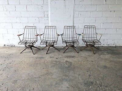 Vintage Set Mid Century Modern Homecrest Wire Patio Chair Furniture MCM Lawn