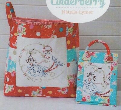 PATTERN - Just Darling - cute stitchery bags PATTERN - Cinderberry Stitches
