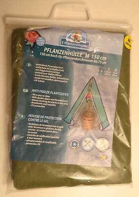"""German-made Plant Cover, Zippered, 150cm / 4'11"""" Tall, 75cm / 2' 5-1/2"""" Base"""