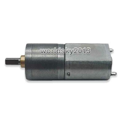 1pcs DC3-6V 33RPM 130 Large Torque Full Metal Gearbox Speed Reduction Gear Motor