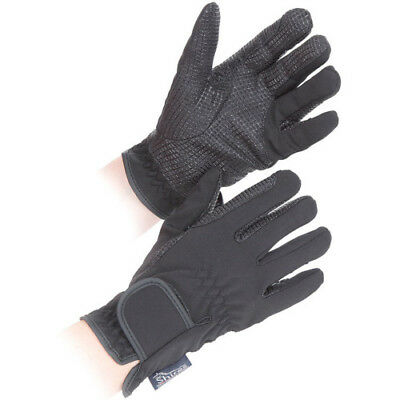 Shires All Weather Unisex Gloves Everyday Riding Glove - Black All Sizes