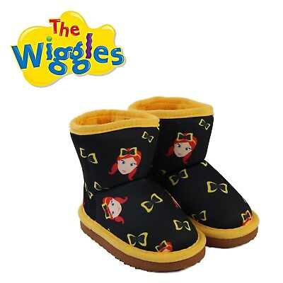 THE WIGGLES Emma Bow Print Ugg Boot Boots Children's Kids Girls Slippers Shoes