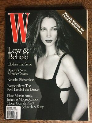 W Magazine Feb 1998 Christy Turlington Julianne Moore Natasha Richardson