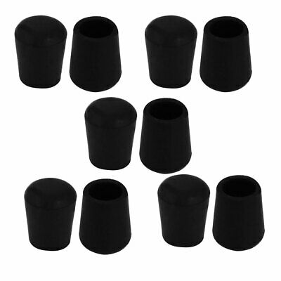 10Pcs Chair Leg Caps Rubber Floor Protector Furniture Feet Covers 10mm Inner Dia