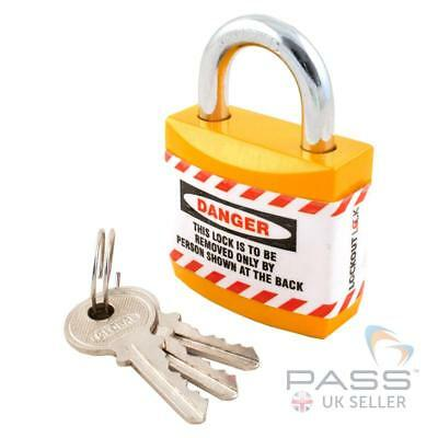 Lockout Jacket Padlock with Regular Shackle - Key Different (Orange)