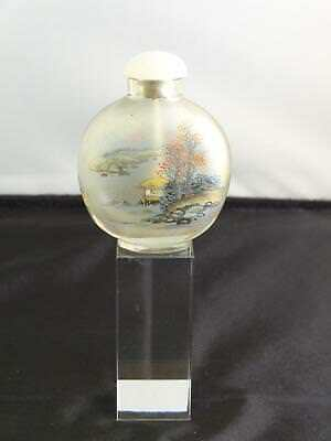 Chinese Interior Painted Glass Snuff Bottle, Export Market, Circa 20th Century