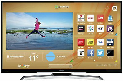 Hitachi 43 Inch 4K Ultra HD HDR Freeview Play Smart WiFi LED TV - Black