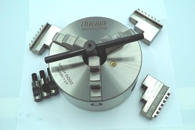 3-JAW SELF CENTERING LATHE CHUCK WITH DIRECT MOUNT D1 CAM-LOCK BACK 160 mm