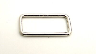 25mm 1'' Heavy Loop RECTANGLE Ring Metal Wire formed Handbag webbing Buckle