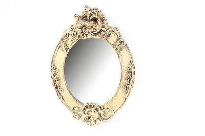 Old Mirror Wall Mirror cult retro 60er 70er Design Oval Ornaments Gold