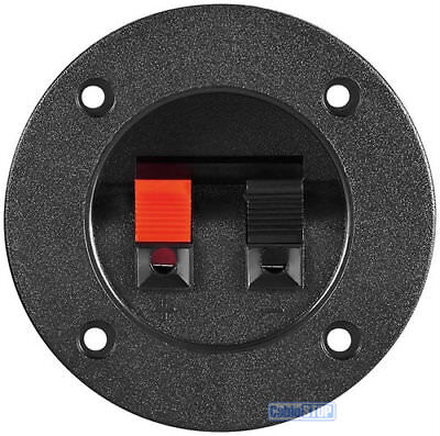 2 WAY SPEAKER WIRE ROUND TERMINAL Wall Panel Plate Input PUSH TYPE
