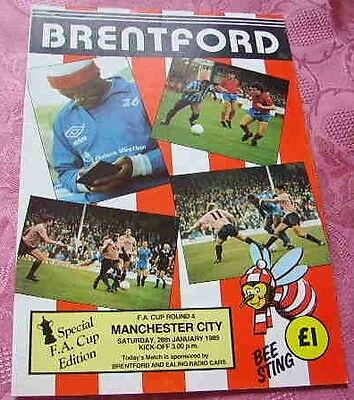 Brentford  V  Manchester City 1988-89 Fa Cup