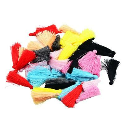 50pcs Colorful Tassels Charms Pendant For Necklace DIY Jewelry Making Crafts