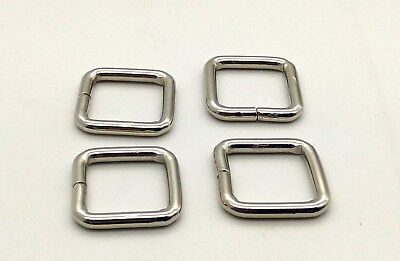 32mm 1 1/4'' Heavy Loop SQUARE Ring Metal Wire formed Handbag webbing Buckle