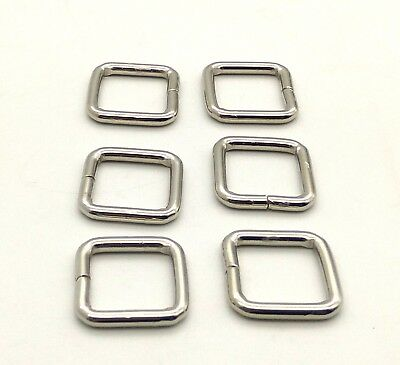 38mm 1 1/2'' Heavy Loop SQUARE Ring Metal Wire formed Handbag webbing Buckle