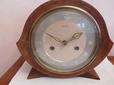 "Vintage  Art Deco Bentwood"" Smiths Of Enfield"" Mantle Clock"