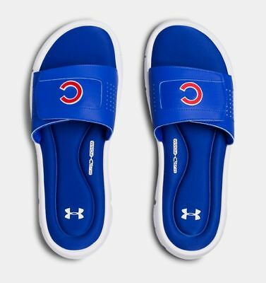 8b32473aa2b UNDER ARMOUR UA Mens Ignite MLB Chicago Cubs Slides Cubs Sandals ...