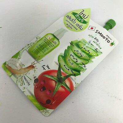 Smooto Tomato 99.5% Aloe Vera Snail White Acne Sleeping Serum Facial Skin
