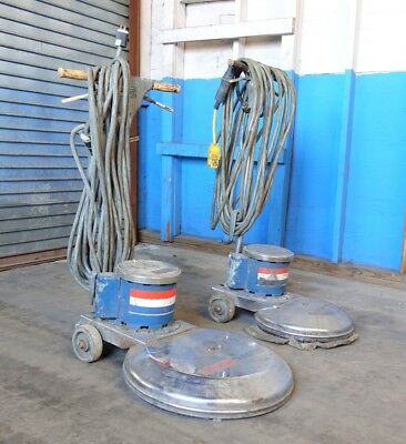 American Lincoln 317 Series and 320 Series Electric Floor Buffers 2 Pc Lot AS-IS
