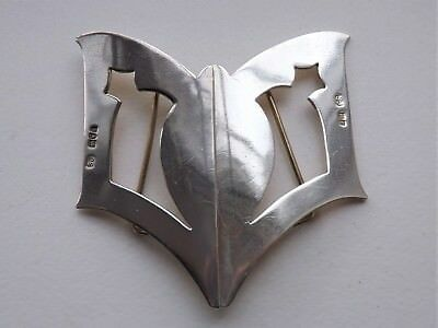 Antique Sterling Art Nouveau Silver Nurses Belt Buckle - London 1906