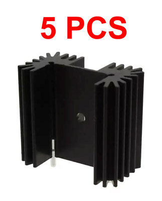 **5-PCS** RA-T2X-38E Heat Sink for TO-218 TO-220 TO-247 BLACK ANODIZED