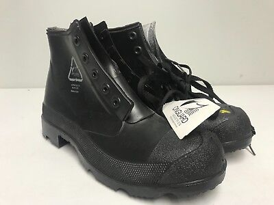 "ONGUARD INDUSTRIES Men's ""Monarch ST"" Black Rubber Steel Toe Boots Size 9 *NWT*"
