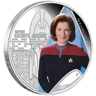 2015 $1 Star Trek: Voyager Captain Kathryn Janeway 1oz Silver Proof Coin
