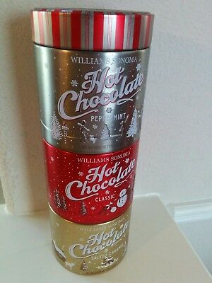 Williams Sonoma 3 in 1 Shaved Hot Chocolate Peppermint, Classic Salted, Caramel
