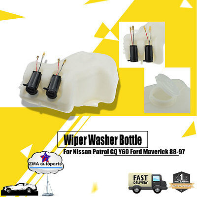 Wiper Washer Bottle with 2 Pumps for Nissan Patrol GQ Y60 Ford Maverick 1988-97