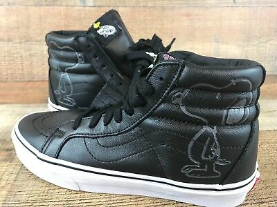 Vans SK8 Hi Reissue Peanuts Snoopy Emboss Black Leather Shoes Men s Size 7  and 8 0b1761ffea92