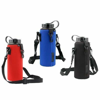 1X 1000ML Water Bottle Carrier Insulated Cover Bag Holder Strap Pouch Outdoor AU