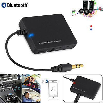 Wireless Bluetooth 2.0 Audio Stereo Music Home Car Receiver 3.5mm AUX Speaker AU