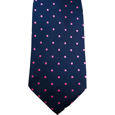 Equetech Polka Dot Show Unisex Accessory Tie - Navy/cerise All Sizes