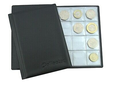 BLUE Album 96 COINS PERFECT for 50p or £1 COIN FOLDER BOOK POCKET COLLECTOR N1