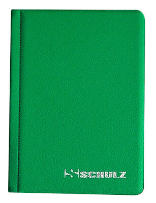 GREEN Album for 96 COINS PERFECT for 50p and £1 SCHULZ COIN FOLDER BOOK POCKET