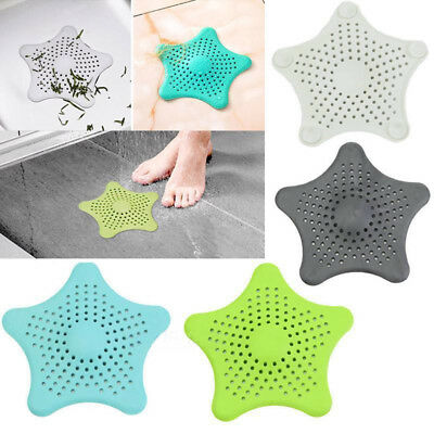 Star Silicone Bath Kitchen Waste Sink Strainer Hair Filter Drain Catcher Cover