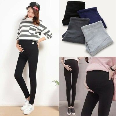 Thick Comfortable Maternity Leggings Cotton Full Ankle Trousers Pregnancy Pants