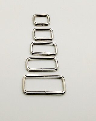 Rectangle Loop Ring Buckle for Bag Making Straps WEBBING CRAFT 19 25 32 38 50 mm